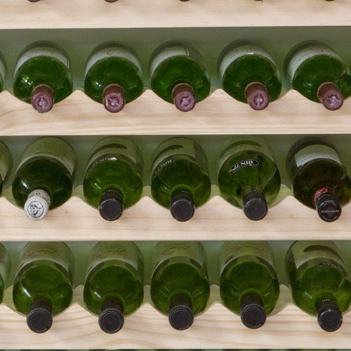 Modularack 54 Bottle Wooden Wine Rack (Natural Pine - 6 x 9)