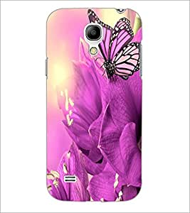 PrintDhaba Butterfly D-2127 Back Case Cover for SAMSUNG GALAXY S4 MINI (Multi-Coloured)
