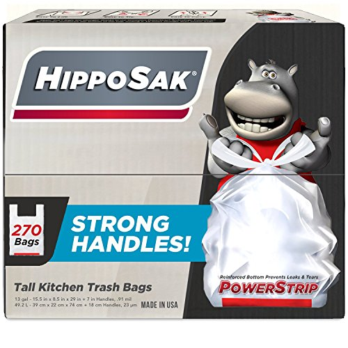 handle-trash-bag-hippo-sak-with-power-strip-13-gallon-tall-kitchen-270-count-by-hippo-sak