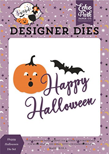 ECHO PARK Paper Company be166040Happy Halloween sterben Set Papier, lila, gelb, schwarz, orange