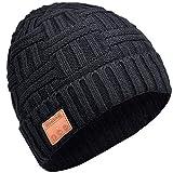 EVERSEE Bluetooth Chapeau Cadeau de Noël - Unisexe Music Bonnet Bluetooth Chapeau Cadeaux Hommes Original, Doux Chaleureux Bluetooth Musique Chapeau d'hiver Cadeau de Noël, Couple ou Anniversaire