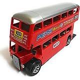 Varshas Double Decker Bus, 16x5x8cm (Red)