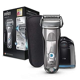Braun Series 7 Rasierapparat 7898cc, mit Reinigungs- und Ladestation, Reise-Etui, silber (B01IN8LBOY) | Amazon Products