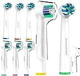 Mix Ersatzbürsten für Oral B - (EB50) voll kompatibel mit Braun Oralb Vitality, Pro Health, TriZone, Advance Power, Genius 8900, 9000, Professional Care, Triumph und Deep Sweep