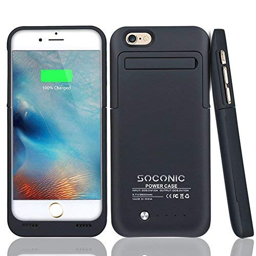 283b8c353ac Soconic 3500mAh Battery Case For iPhone 6 / 6s Rechargeable Extended  Battery Charging Case Portable Charger Case Backup External Battery Pack  Power Bank ...
