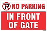 #3: Quality Star 18x12 vinyle No Parking Sign Board