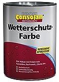 Consolan Profi Wetterschutzfarbe RM 201 weiss 0,75 Liter