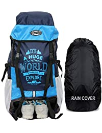 POLESTAR XPLORE 55 ltrs with Rain Cover Rucksack/Hiking/Trekking Backpack Bag 55 ltrs (Sky)