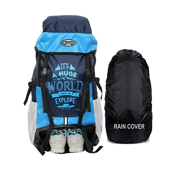 POLE STAR XPLORE 55 ltrs with Rain Cover Rucksack/Hiking/Trekking Backpack Bag 55 ltrs (Sky)