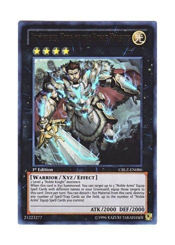 Yu-Gi-Oh Englisch CBLZ-DE086 Artorigus, Konig der edlen Ritter von St. Ritter Konig Artorius (Ultra Rare) 1. Auflage