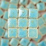 Mini Mosaik Quadratisch vollglasiert, tesselle 5x 5mm, Höhe 3mm, 100Stück vert réséda
