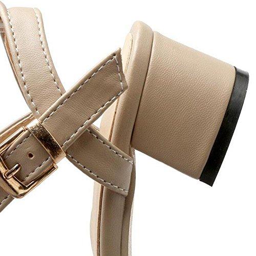 Cinturino di donne pompe Cintura con fibbia sandali sandali laterali vuote Scarpe cinghie Corte Khaki
