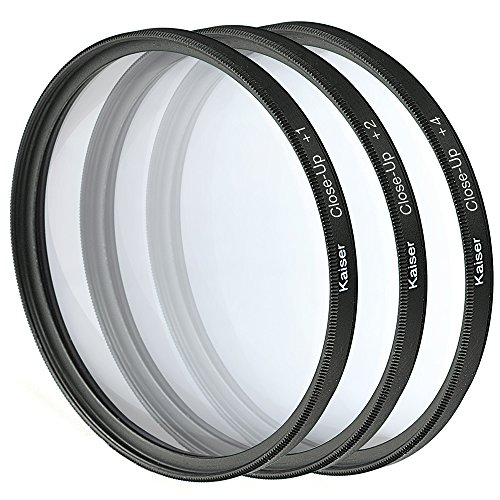 Kaiser Fototechnik Nahlinsen-Set 52 mm mit Nahlinse +1/+2/+4 inkl. Aufbewahrungstasche
