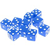 Segolike Set of 10 Pieces Six Sided D6 Dices Digital Dices Set for D&D TRPG MTG DND Playing Game Dice Toys Party Casino Board Games Toys - blue