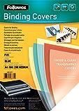 Fellowes PVC Cover - Cubierta (Azul, Transparente, 21 cm, 1 mm, 29.7 cm, De plástico)