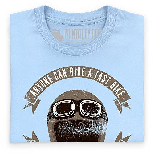 Ride A Bike Fast T-Shirt, Damen Himmelblau