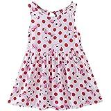 Outtop(TM) 1Pcs Summer Cartoon Floral Dress Clothes Sundress Casual Dresses 24M(18~24months) Red