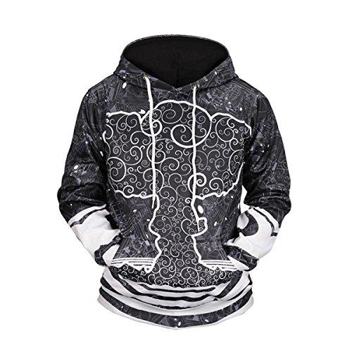 Sweatshirts Unisexe 3D Prints Cardigan Casual Sport Pocket Respirant Sweat à Capuche à Motifs De Grande Taille OneColor