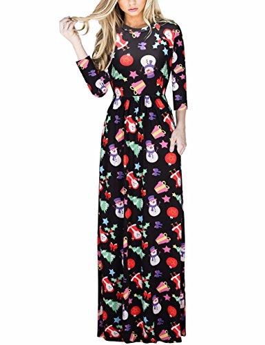 Ruiyige Vestito lungo da donna