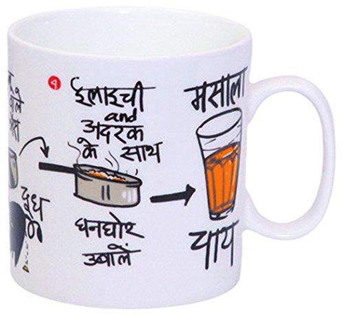 Clay Craft - Masala Chai, Coffee / Milk Mug, 390ml/8.4cm (1 piece)