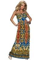5902 Fashion4Young Damen Maxikleid Neckholder Kleid Sommerkleid dress verfügbar in 6 Farben