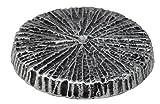 Paul Jansen Sockel rund zum Aufschrauben der Grablaternen und Grabvasen, schwarz / silber