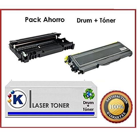 Pach Ahorro Toner + Tambor Compatible para uso en Ricoh Aficio SP 1200SF - Impresora multifunción láser. Enviado desde