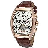 Forsining, orologio da polso FSG9409M4R3, da uomo, elegante e automatico, con meccanismo tourbillon e calendario