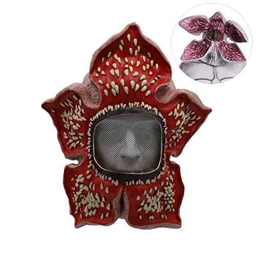 Maske Latex Halloween Horror Kostüm Maske, Halloween Cosplay Maskerade Kostüm Party Kannibale Blume Gesicht Kopf für Kinder Männer Frauen (Muskel Waffen Kostüm)