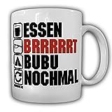 Tasse Bundeswehr Alltag AGA Soldat MG3 Biwak Essgeschirr BW Humor Büro #25140