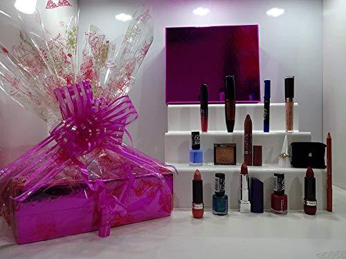 Noël vente ~ Rimmel London 10pc Luxury Beauty Box + Bague Pendentif en cristal et ensemble de boucles d'oreilles + Gratuit Rimmel Fond de teint ~ Panier cadeau pour elle. 86.