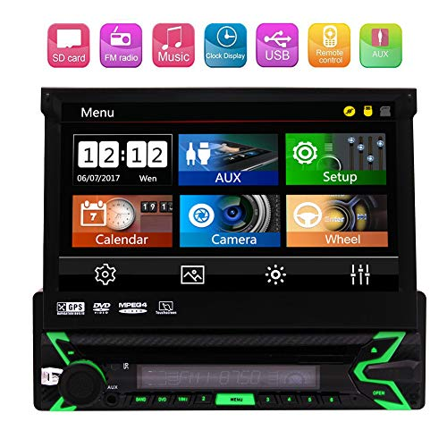 populäre UI! 7 Zoll kapazitive Touchscreen Multifunktions-Auto-DVD-Receiver GPS-Navigation Bluetooth-USB-TF AM FM EQ Fernbedienung AUX-Eingang 800 * 480 Auflösung Rückansicht Kameraeing