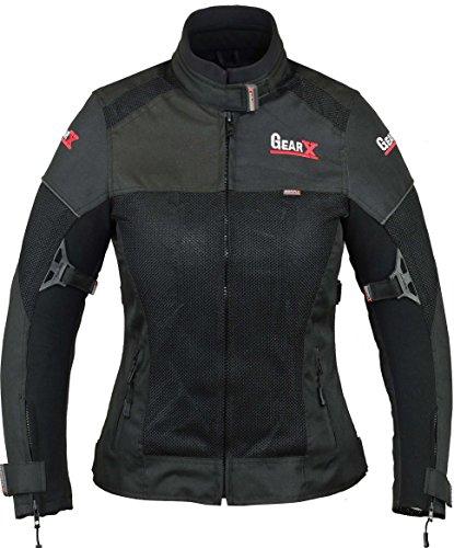 Mesh-motorrad-jacke (Sommer Frauen Motorrad Motorrad Jacke Lüftungsschlitze & Protektoren - M)
