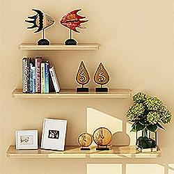 Yontree® Lot de 3 Etagères Flottantes Murales Panneau/MDF Epaisseur de 1,5 cm
