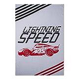 Disney Cars Lightning McQueen Lightning Speed weiß & grau Bett Decke (Twin)