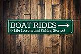 Zor345damilla Bootsfahrtenschild, personalisiertes Seeschild, Angelgeschichten, Lebensunterricht,...