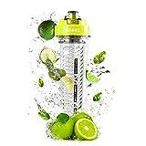 """Duronic 600 CR/GN Trinkflasche/Trinkbecher / Wasserflasche/Ersatzflasche für den """"BL505 Mini Standmixer"""" mit Infuser für Fruchtschorlen - BPA FREI - 600 ml"""