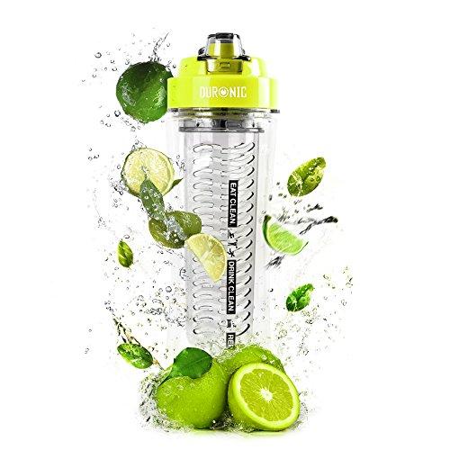"""Duronic 600 CR/GN Trinkflasche/Trinkbecher/Wasserflasche/Ersatzflasche für den """"BL505 Mini Standmixer"""" mit Infuser für Fruchtschorlen - BPA FREI - 600 ml"""
