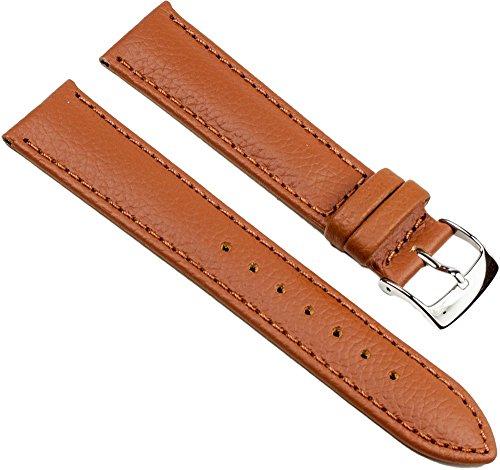 Fancy Classic Ersatzband Uhrenarmband Rindsleder Band Goldbraun 25460S, Stegbreite:18mm