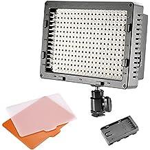 Neewer CN-304 Panel de LED de 304PCS Regulable para Cámara Digital/Videocámara de Alta Potencia Luz de Video, Luz de Led para Cámara Digital SLR Canon,Nikon,Pentax,Panasonic,SONY,Samsung y Olympus