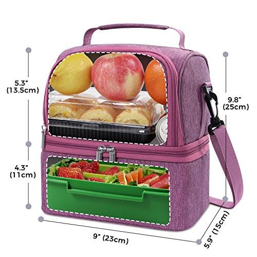 Philorn Bolsa Térmica Porta Alimentos del Almuerzo Comidas Llevar ... 1b67f438650