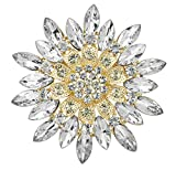 SaySure - Crystal Flower Brooch Pin Clothes Accessories Christmas