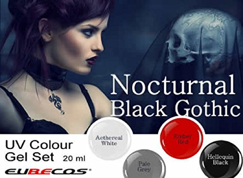 Nocturnal Black Gothic – UV Farbgel Set 4 x 5 ml