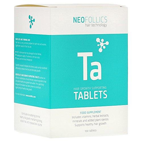 Neofollics - Nahrungsergänzungsmittel zur Steigerung des Haarwachstums - Biotin, Polyphenole und Isoflavone - für Männer & Frauen - 100 Tabletten