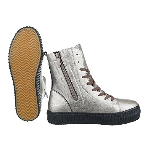 Ital-Design - Low-top Donna , argento (grigio argento), 38