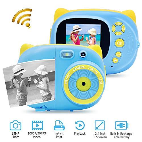 Digitalkamera Sofortbildkamera mit WiFi Full HD 1080P 30FPS 15MP Kamera Kompakte Digitale Sofortbildkamera