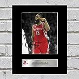 James Harden Signiert Foto Display Houston Rockets