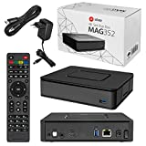 MAG 351/352 Original Infomir / HB-DIGITAL IPTV Set TOP Box Linux MAG 351 / MAG 352 , WLAN WiFi 802.11 b/g/n/ac, Bluetooth, Stalker, Multimedia Player Internet TV IP Receiver HEVC H.256 + HDMI Kabel