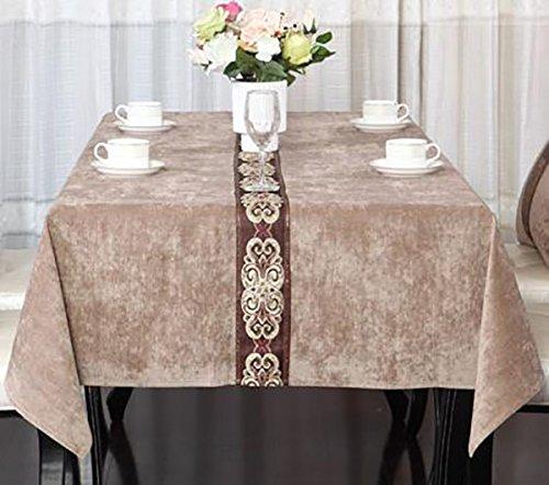 LILSN- Europea - American Style moderna Tovaglia lusso Nazionale Mass - Tavolino Tavolino TV Cabinet Panno personalizzato ( colore : Khaki , dimensioni : 130*180 )