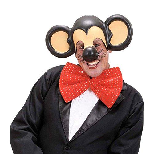 NET TOYS Maus Maske mit großen Ohren Mickey Tiermaske Mausmaske Mäuschen Kappe Tier Haube Faschingsmaske (Die Maske Der Und Maus)